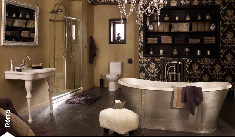 Charme et esprit d 39 antan pour votre salle de bain for Photo salle de bain avec baignoire ilot