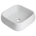 Vasque à poser carrée en céramique blanche