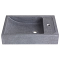 Vasque en pierre naturelle gris ardoisé rectangulaire
