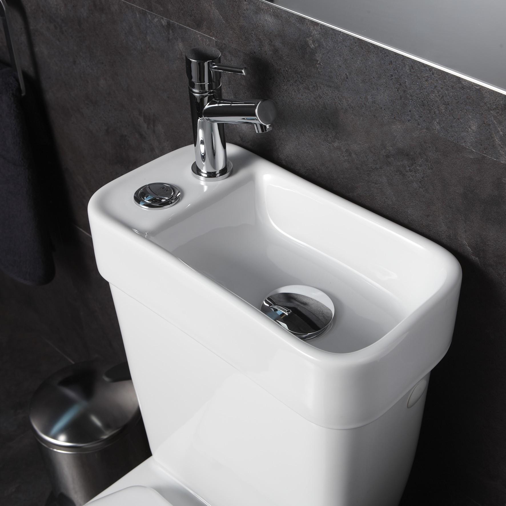 wc 2 en 1 avec lave main intégré, pack wc et lave-main pas cher, ensemble wc à poser et lave-mains planetebain