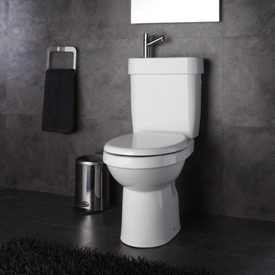 wc avec lave-mains intégré, wc 2 en1 avec lave main, wc à poser et lave-mains incorporé.