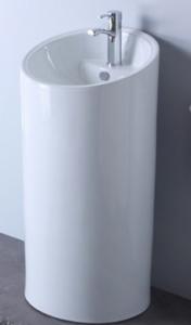 lavabo sur pieds cylindre