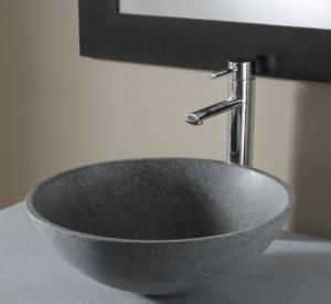 vasque bol en pierre gris ardoisé