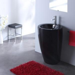 meuble salle de bain noir accessoires couleur noire. Black Bedroom Furniture Sets. Home Design Ideas