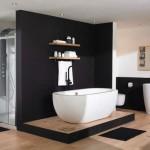 salle de bain moderne noire et blanche