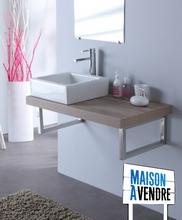 vasque et plan en bois