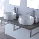 meuble design suspendu pour salle de bain