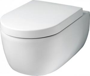 Cuvette suspendue en céramique blanche