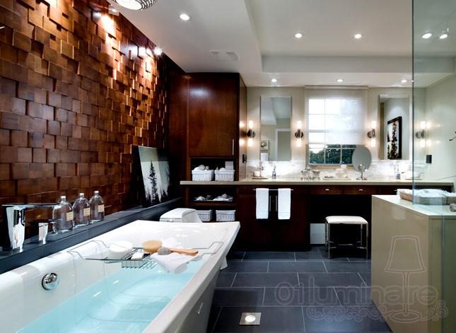 Choisir luminaire et clairage salle de bain planetebain - Eclairage plafond salle de bain ...