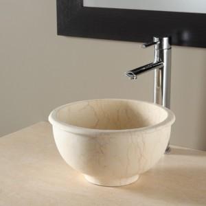 Vasque en pierre bol - beige egyptien
