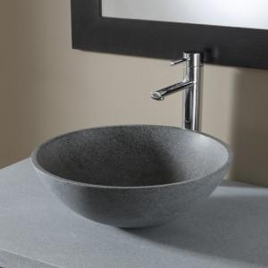 Vasque à poser en pierre naturelle - gris ardoisé