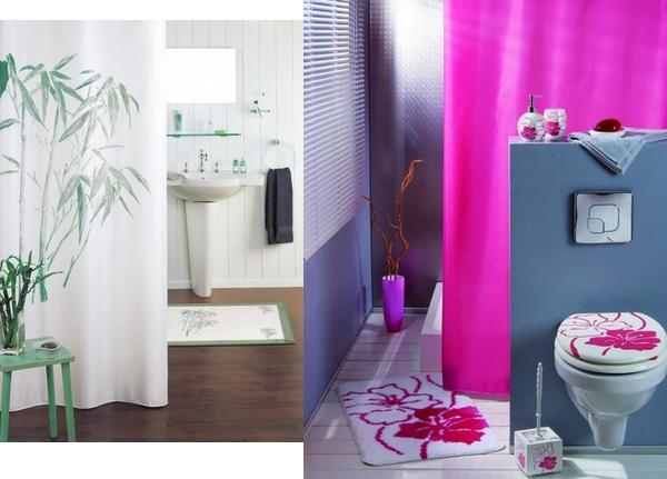 rideaux de douche plastique