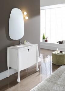 meuble sur pieds blanc