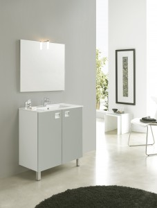 meuble simple vasque en céramique blanc