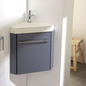 Meuble lave-mains d'angle gris souris, meuble lave-mains, meubles lave-mains, meuble lave mains planetebain