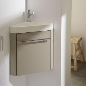 Meuble lave-mains d'angle daim, meuble lave-mains, meubles lave-mains, meuble lave mains planetebain