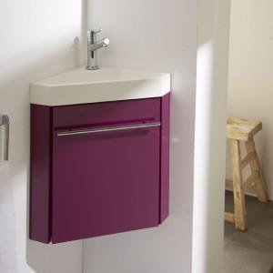 Meuble lave-mains d'angle aubergine, meuble lave-mains, meubles lave-mains, meuble lave mains planetebain,