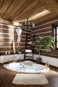 baignoire dans le sol, baignoire dans la chambre, salle de bains ouverte, salle de bains dans  la chambre