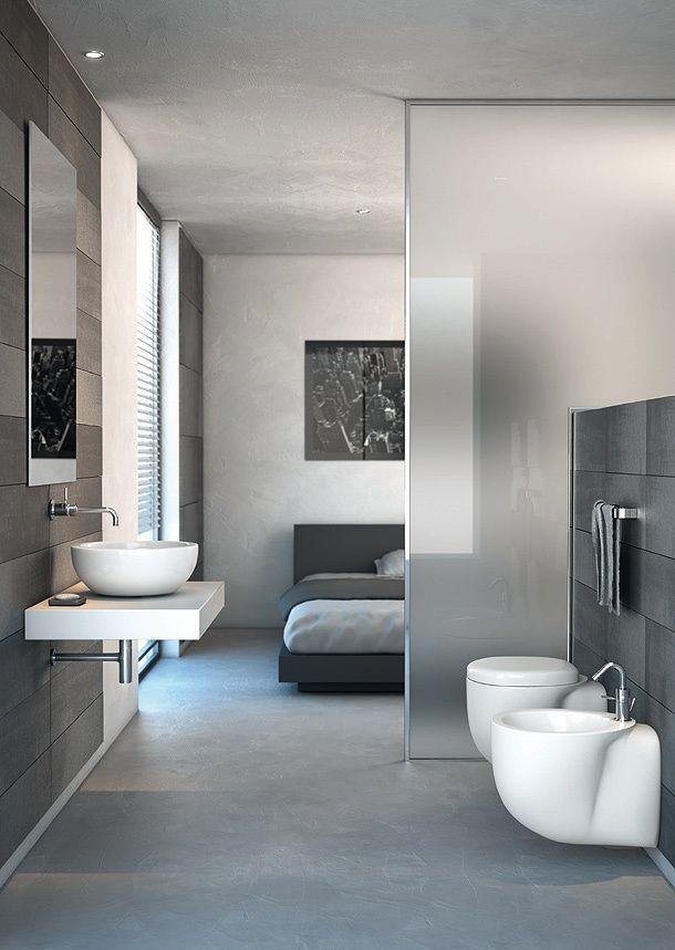 Une salle de bains ouverte sur la chambre, je dis oui ! |