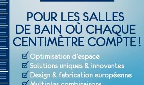 nouvelle gamme gain de place, gamme gain de place, produits nano planetebain, petite salle de bains