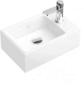 petit lave-mains céramique blanc, lave-mains planetebain, villeroy et boch chez planetebain