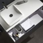 promotion d'un meuble avec vasque à poser