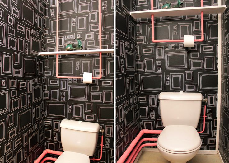 D co originale pour wc - Decoration des toilettes design ...