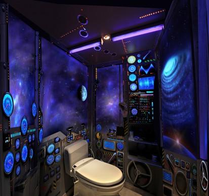 Les petits tutos de l a une d co originale pour des wc au top - Decoration wc originale ...