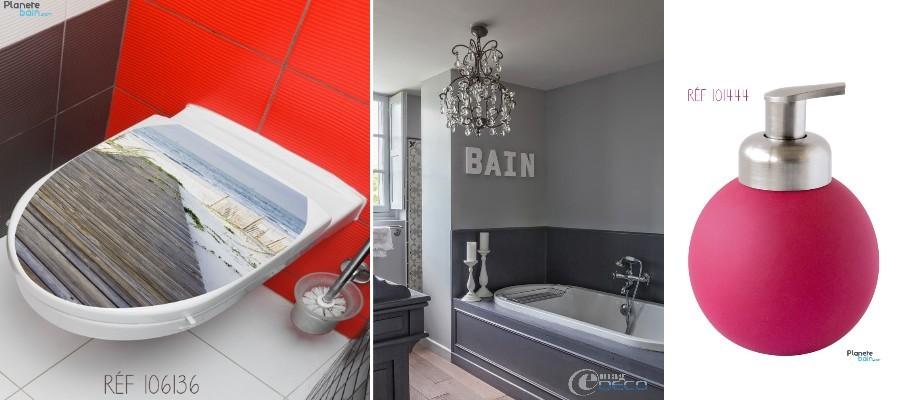 stickers abattant wc, décoration salle de bain, accessoires salle de bain