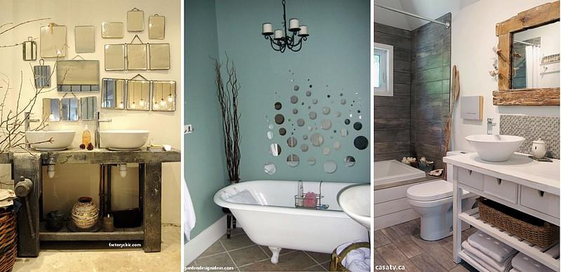 décoration salle de bain miroir