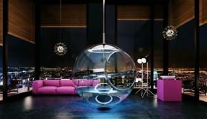 baignoire originale, baignoire sphère, blog planetebain