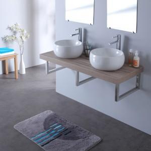 double vasque sur meuble suspendu