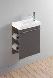 Fabriquer une tag re design pour papier toilette - Fabriquer meuble wc ...