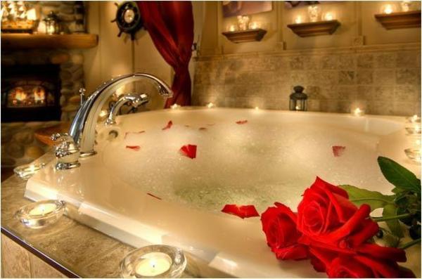 Conseils pour soir e romantique bain en amoureux for Salle de bain romantique
