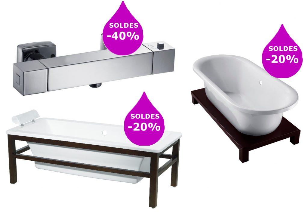 Soldes baignoire design et mitigeur