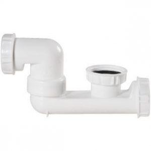 siphon pour baignoire blanc