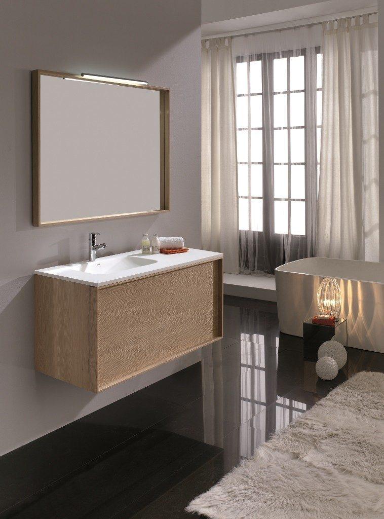 meuble salle de bain couleur bois