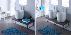 plan de toilette avec vasque à poser design