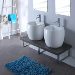 lavabo double vasque suspendu