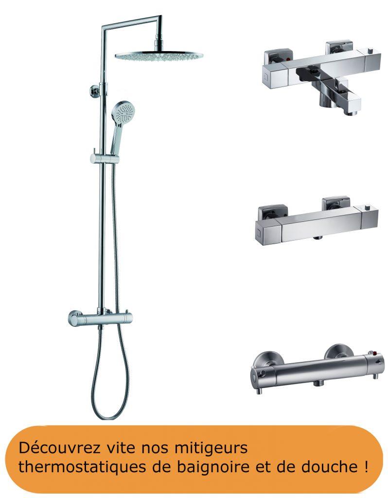 Mitigeurs de douche et baignoire thermostatiques