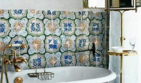 salle de bain rétro design