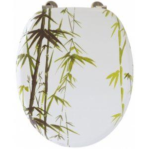 un abattant avec déco bambou
