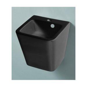 un lave-mains noir