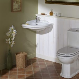 lavabo d'angle retro