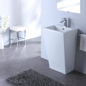 un lavabo carré design