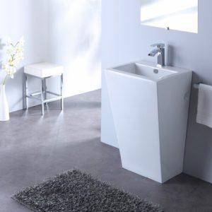 un lavabo carré design