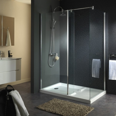 cabine de douche avec receveur douches planetebain. Black Bedroom Furniture Sets. Home Design Ideas