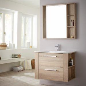 meuble, vasque et miroir
