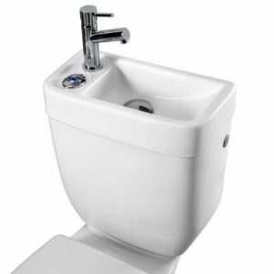 réservoir d'eau avec lave-mains pour WC