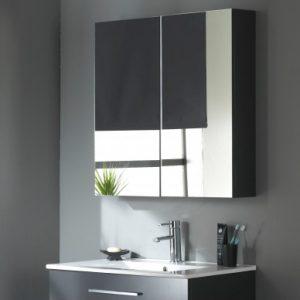 Miroir armoire 80 cm Gris laqué